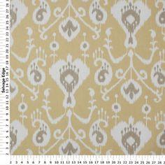 Fashion Drapery & Upholstery Fabrics - Java Print on Barley Cotton Fabric