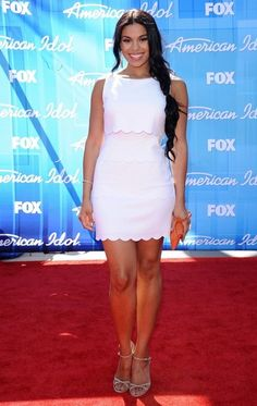 Jordin Sparks in Summer White Dress.
