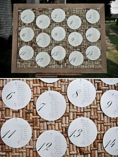Love this seating chart idea!