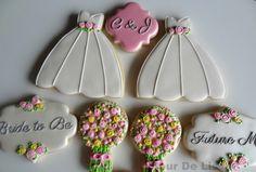 Bridal Shower/Engagement Cookies, by Flour De Lis