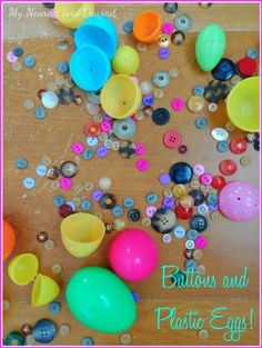 Buttons and Eggs! Simple Easter Activity for Kids.