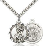 Bl. John Slade, Roman Catholic layman and English Martyr. John denied King Henry Viii's supremacy in religious matters and was arrested and tried with Blessed John Bodey. They were hanged, drawn, and quartered at Winchester. Feastday: October 30  Image of St. Christopher Pendant (Sterling Silver)