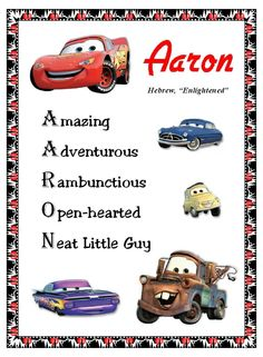 Disney Cars personalized wall decor