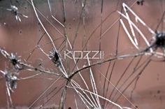 broken mirror - A shattered mirror surface