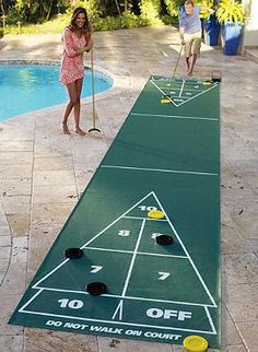 This summer, entertain guests outside with a game of Shuffleboard!