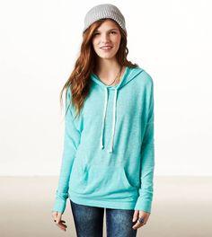 AE Weekend Hoodie T-Shirt - Tidal Blue