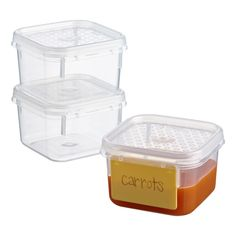Our Tellfresh® Food Storage collection features easy to use, airtight lids and traditional good looks. These are the perfect size for holding not only baby food, but also sauce, pesto, snacks and more.