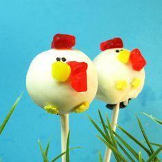 Rooster Cake Pops