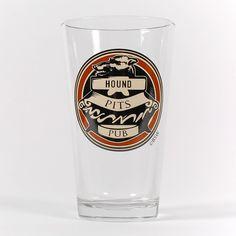 Hound Pits Pint Glass