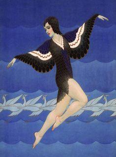raven, carl, vintage illustrations, danc magazin, 1927, magazines, 1920s, dance, art deco posters