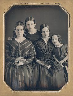 Daguerreotype of family, likely in Philadelphia