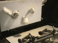 Bread dough being cut: Click on picture to see :)