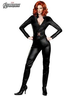 Avengers Black Widow Costume - Womens Avengers Superhero Halloween Costumes