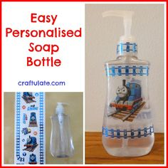 Easy Personalised Soap Bottle - Craftulate