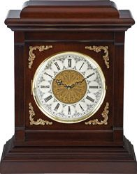 The Westmont Mantel Clock Kit is a traditional style clock that features a cream Roman numeral dial protected under a hinged glass bezel.