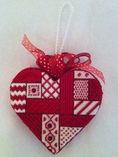 Needlepoint Now needlepoint ribbon heart shown on Split the Needles: The Dream Lives On