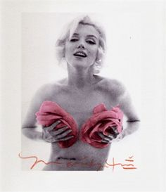 Marilyn Monroe with Pink Roses. Breathtaking