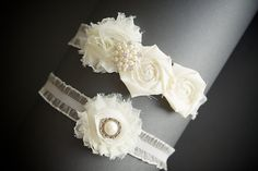 Ivory Lace Bridal Garter , Wedding Garter ,Toss Garter ,  Bridal Accessories  , Pearl Accent. $30.00, via Etsy.