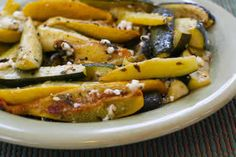 Roasted Baby Summer Squash with Feta and Thyme