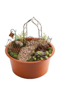 Aged Copper Mini-Garden Assortment in Red Eco Pot.