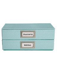 Use adhesive metal bookplates from Avery's Martha Stewart line to label just about any box for easy, beautiful storage.