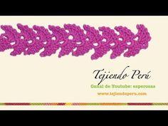 Cenefa para aplicar tejida en crochet # 2 - YouTube
