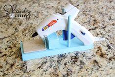 DIY glue gun stand