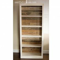 DIY Pallet Backed Bookshelf - for a more rustic look