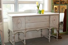 i love these old vintage sideboards. this would look pretty in an entry.