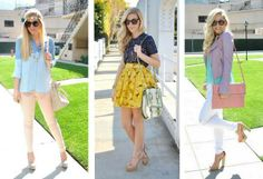 skirt style, fashion clothes, spring colors, summer outfits, picture outfits, lauren conrad, spring outfits, style guides, spring style