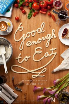 graphic design, louise fili, foods, food photography, book covers, event posters, typography, louis fili, design posters