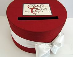 Wedding card box in red