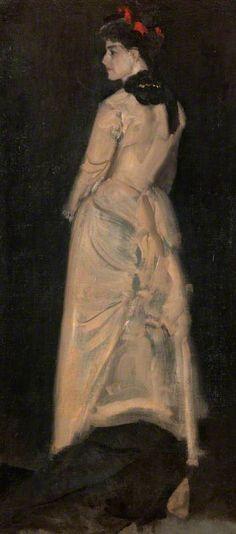 Harmony in Flesh Colour and Black: Mrs Louise Jopling / James Abbott McNeill Whistler / 1877 / oil on canvas