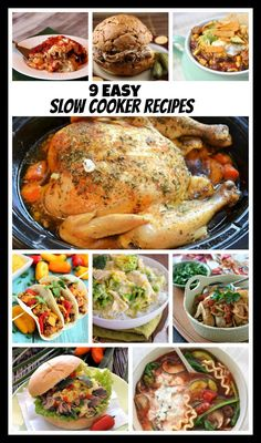 9 Easy Slow Cooker Recipes