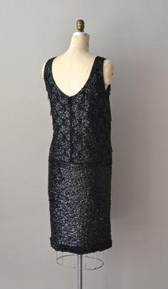 Lady Prima dress / vintage 60s beaded dress / sequin by DearGolden