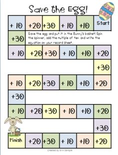 Freebie! This is an Easter themed game to practice adding multiples of 10 to a two digit number.