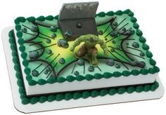 Incredible Hulk cake decorating kit birthday favors toppers The Avengers movie | eBay cake decorations, hulk cake, aveng hulk, parti idea, party cakes, birthday favors, the avengers, birthday cakes, cake toppers