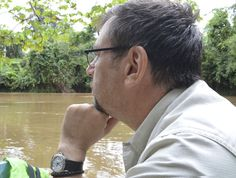François Couture wears his Rolex Explorer II while on the Shiripuno River in Ecuador's Yasuni National Park.