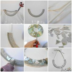 necklace with reuse cd!!!