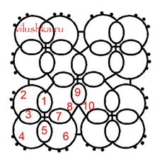 Tatting Motif No. 2 .... with written pattern as well. There are 3 Square tatting motifs at the same link & page...... *p*