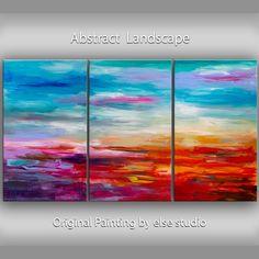 Original Art huge oil painting Impasto Texture by elsestudio, $528.00