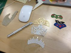 Oh Princess! Designers make delicate stencil crowns for a princess birthday party invitation. Click through to read the WSJ's behind the scene's story.