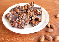 Tasty and easy chocolate almond bark :-)