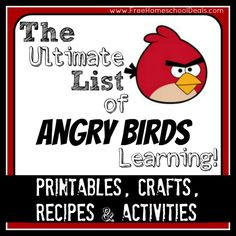 Over 50+ Angry Birds Printables, Crafts, Activities, and more!