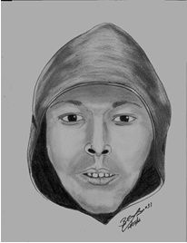 """Name/Unknown; Sex/ Male; Race/ Black or Hispanic; Age/ 30's; Hgt./ 5'06""""-5'9""""; Wgt/150-170; Other/ Gaps between the front four teeth; Vehicle: Gray, Silver, or Blue; COMPACT TO MEDIUM size car;  Illinois plates # is Unk;      Comments: The above suspect vehicle struck two (2) Pedestrians walking in the 900 blk of Curtis. The above driver composite was given by the surviving victim. If anyone knows the identity of the suspect driver, please contact Det. Ponce at 815-724-3048."""