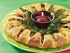 Green Giant Holiday Appetizer Wreath Recipe