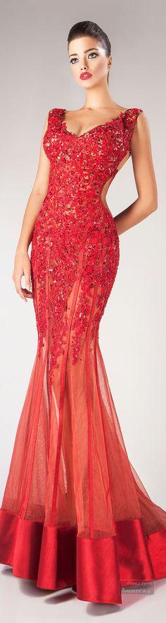 Glamour gown..Hanna Toumajean Fall-winter 2014-2015.