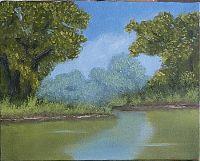A Small Landscape Painting (8x10, oil on canvas) Tutorial corel art, diy artscraft, landscape paintings, art lessonsacryl, paints, paint tutori, paint 8x10, oil paint, canvases
