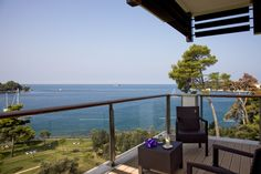 View from a guest room - all guest rooms have sea views