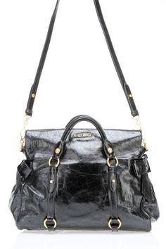 Miu Miu Vitello Shoulder Bag In Black - Beyond the Rack